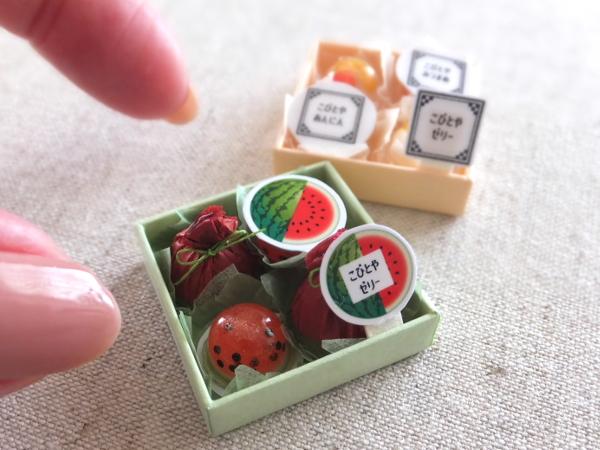 ミニチュア ゼリー スイカ みつまめ 杏仁 食品サンプル