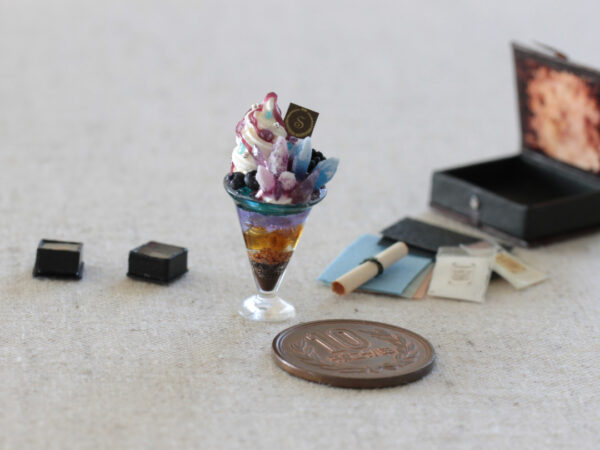 miniature mineral ore handmade ミニチュア 石磨きセット 鉱物パフェ