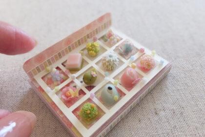miniature 和菓子 上生菓子 ミニチュア ひなまつり